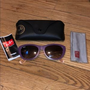 Ray Ban Violet Sunglasses NWOT